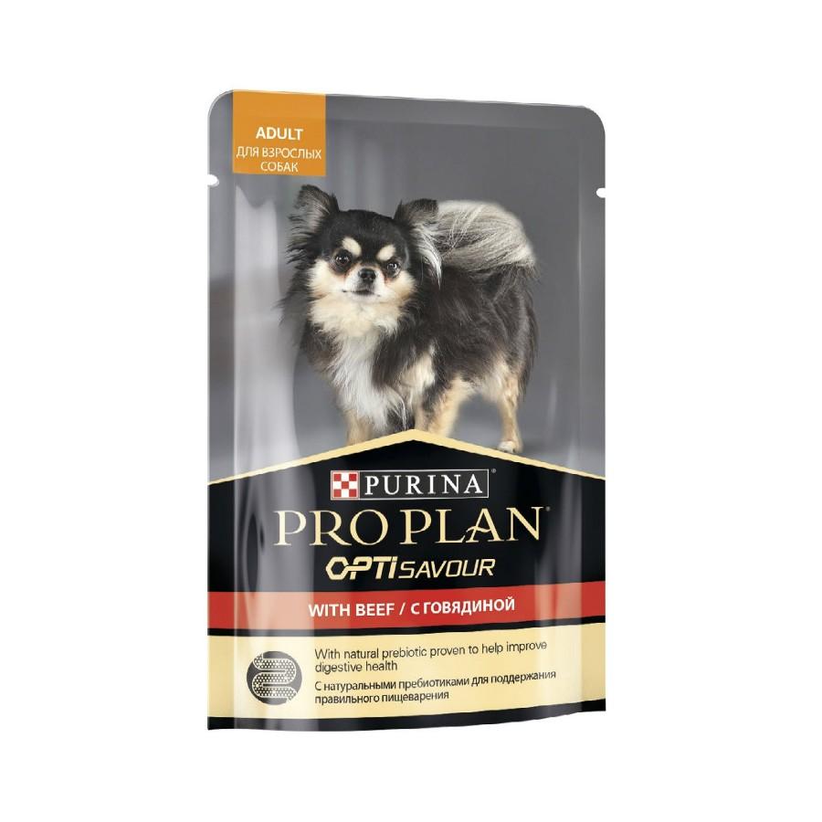 PRO PLAN Dog взрослые говядина 24*100г